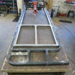 Herstellung der Rahmen für Sitz- und Rückenfläche.