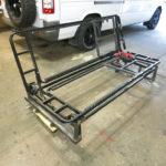 Zusammenbau und Test des Sitzgestells.